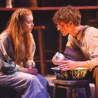 McKenna Slone and Joe Essig in <i>Playboy of the Western World</i> at Carnegie Mellon Drama