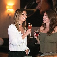 Jillian Swisher and Theresa Peranteau at Perle, winner of Best Place for a Girls' Night Out