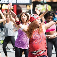 Zumba during July's OpenStreets PGH, winner of Best Street Festival