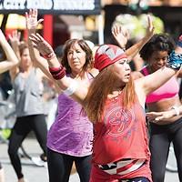 Zumba during July's OpenStreets PGH, winner of Best Street Festival