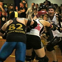 Roller Derby Action at the Romp n' Roll in August