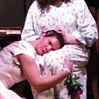 Lindsay Pingor Fitzpatrick (left) and Meighan Lloyd Harding in <i>Carrie: The Musical</i>, at Split Stage