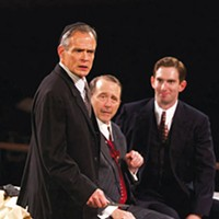 From left: James FitzGerald, Martin Giles and Luke Halferty in PICT Classic's <i>The Merchant of Venice</i>