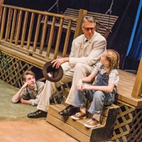 Left to right: Elliot Pullen, Brian Ceponis and Grace Vensel in Prime Stage's <i>To Kill a Mockingbird</i>