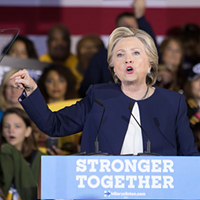 Hillary Clinton at her Nov. 4 appearance in Pittsburgh