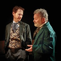 Leo Marks (left) and Sam Tsoutsouvas in Kinetic Theatre's <i>Three Days in the Country</i>
