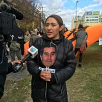 Alma Brigido, wife of Martin Esquivel-Hernandez, interviewed by Philadelphia-area Spanish language TV news