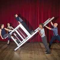 Attack Theatre rehearses <em>Unbolted.</em>