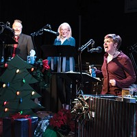 Jason McCune, Amy Landis and Julianne Avolio in <i>Midnight Radio's Holiday Spectacular!</i>