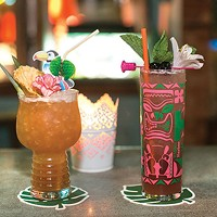 Tiki drinks at Hidden Harbor: Toucan Tango and the Zombie