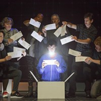 "Adam Langdon (center) in ""The Curious Incident of the Dog in the Night-Time"""
