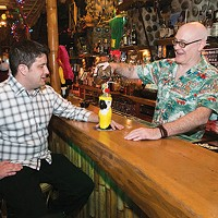 Pittsburgh Drinks co-authors Cody McDevitt and Sean Enright at Tiki Lounge