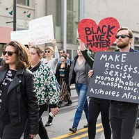 White allies in the East Liberty march