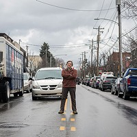 Paul Heckbert stands at the intersection of South Braddock Avenue and Sanders Street.