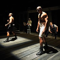 Left to right: Bernard Gilbert, Tim Edward Rhoze, Desean Kevin Terry and Andrew William Smith in <i>The Royale</i>, at City Theatre