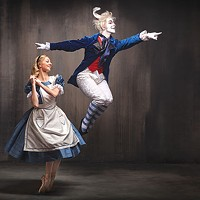 Hannah Carter and William Moore in PBT's <i>Alice in Wonderland</i>