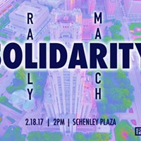 Solidarity rally and march tomorrow in Pittsburgh's Schenley Plaza