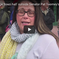 CP Video: Protesters stage 'town hall' outside Senator Pat Toomey's Pittsburgh office
