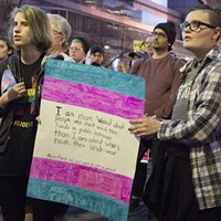 Scenes from Friday's 'RISE UP for Trans Equality!' protest and rally in Downtown Pittsburgh