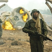 On Skull Island, Packard (Samuel L. Jackson) is still at war.