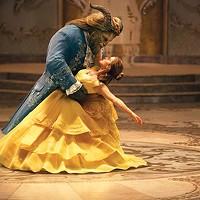 Beast (Dan Stevens) and Belle (Emma Watson)