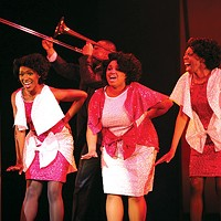 From left: Anastasia Talley, Adriana Cleveland and Delana Flowers in Pittsburgh Musical Theater's <i>Dreamgirls</i>