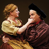 Melinda Helfrich and Andrew May in <i>The Guard</i>, at City Theatre