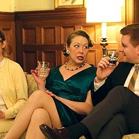 "From left: Hilary Caldwell, Joanna Lowe and Tom Kolos in ""Who's Afraid of Virginia Woolf?"""