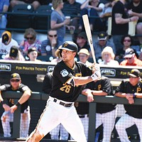Adam Frazier, seen here in a March 23 preseason game in Bradenton, Fla., says the Pirates are in a good place heading into the 2017 season