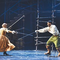 Daryl Paris Bright (left) and Siddiq Saunderson in The <i>The Three Musketeers</i> at CMU Drama