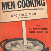 The decades-old 'Men Cooking' cookbook celebrates the adventurous chef