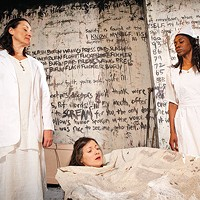 From left: Tammy Tsai, Erika Cuenca and Siovhan Christensen in <i>4.48 Psychosis</i>, at Off the Wall