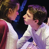 Left to right: Julia Zoratto, Peter Joseph Kelley Stamerra and Lyric Bowman in <i>The Perks of Being a Wallflower </i>at Prime Stage
