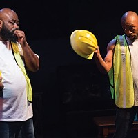 Sam Lothard (left) and LaMar Cheston in <i>Hercules Didn't Wade in the Water</i>, at Pittsburgh Playwrights