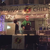Revival Chili serving up cheer and chili at Light Up Night, 2016.