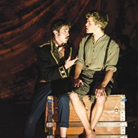 Brett Goodnack (left) and Nate Willey in <i>Peter and the Starcatcher</i> at Stage 62