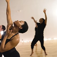 Dancers rehearse SPdp's <i>Abbey: In the Red </i>