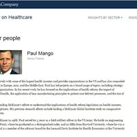 Republican gubernatorial candidate Paul Mango's McKinsey & Company profile page before it was removed this month