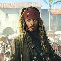 He's back: Capt. Jack Sparrow (Johnny Depp)