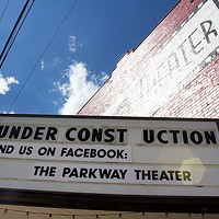 The exterior of the Parkway Theater