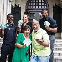 The cast of <i>Lotto</i>, at New Horizon Theater