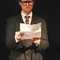 Matt Henderson in<i> Thom Pain</i>, at 12 Peers Theater