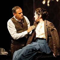 Ricardo Villa-Roger and Moira Quigley in <i>In the Next Room</i>, at Throughline Theatre