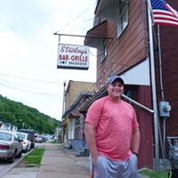 Ford City borough councilor Tyson Klukan outside Stanley's Bar and Grille in June