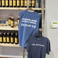 T-shirts on display at the new Pennsylvania Libations