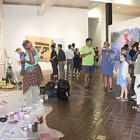 <i>Wall Paintings: Storytellers </i>at SPACE Gallery during the Downtown Gallery Crawl on Fri., July 7