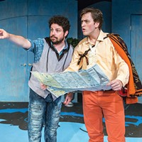 Patrick Halley (left) and Ethan Saks Kinetic Theatre's <i>The Liar</i>