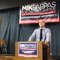 Mik Pappas at his July 13 campaign event in East Liberty
