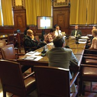 Pittsburgh City Councilors meet at an July 18 post-agenda meeting on affordable housing.