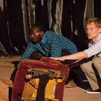 Patrick J. Ssenjovu (left) and Scott Parkinson in Quantum Theatre's <i>Red Hills </i>